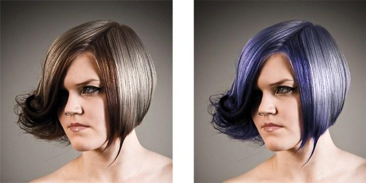 طرز تغییر رنگ موهای یک شخص در تصویر با کمک فتوشاپ